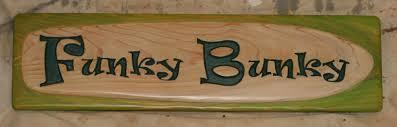 wood sign funky bunky 1 salt cnc water jet cutting cnc