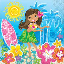 luau party hula girl luau party luncheon napkins 16ct walmart