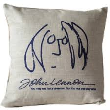 beatles home decor amazon com beatles imagine john lennon caricature throw pillow