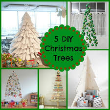 Christmas Tree Stop - 5 diy christmas trees get creative this holiday season a pop of red