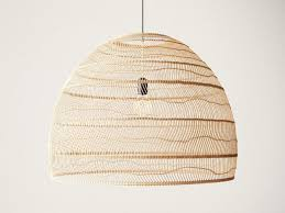 Wicker Pendant Light 3d Wicker Hanging Lamp Large Cgtrader