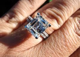 3 carat engagement rings ring emerald ring 3 00 h vs2 center setting detail