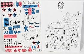 coloring book u2013 drawings andy warhol u2013 kinder books