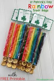 treat bags st s day rainbow treat bags with free printable label