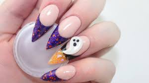 glitter ombre halloween acrylic nails youtube