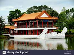Two Story Deck Singapore A White Marble Boat With Two Story Pavilion Buit Atop