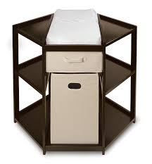 Changing Table Baby by Badger Basket Espresso Diaper Corner Baby Changing Table With