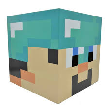 diamond steve minecraft diamond steve cardboard heads use diy steve