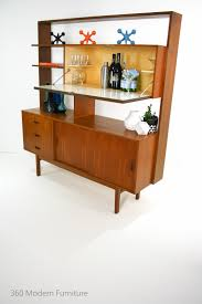 Teak Mid Century Modern Furniture by Mid Century Teak Sideboard Room Divider Bar Shelves Cabinet