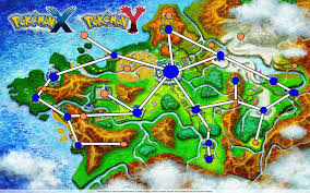 Map Routes by Detailed Kalos Map With Route Town Interest Points Overlays
