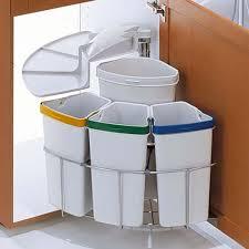 poubelle de cuisine tri selectif poubelle rotative à tri sélectif pour meuble d angle kitchen