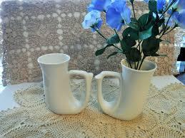 2 horn shaped mugs unique mugs rynne u0027s china made in japan