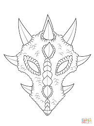 dragon mask coloring page free printable coloring pages