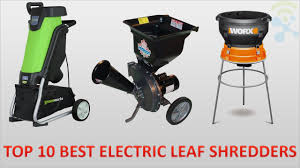 top 10 best cheap electric leaf shredders in 2017 reviews youtube