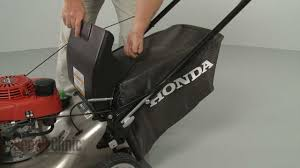 honda lawn mower grass bag replacement 81320 vl0 p00 youtube
