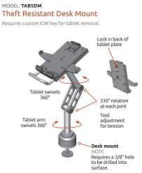 Tablet Desk Mount by Universal Secure Desktop Tablet Mount