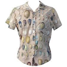 bird blouse paul harnden shoemakers bird egg shirt at 1stdibs