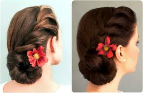 juda hairstyle steps rope braided side bun youtube