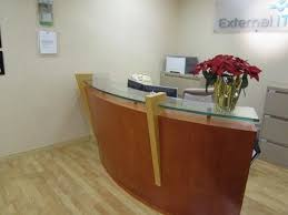 Reception Desk Glass Collection In Glass Top Reception Desk Glass Floating Top For