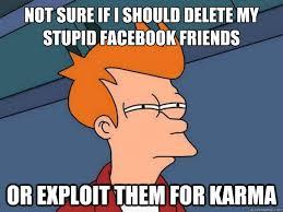 Stupid Friends Meme - not sure if i should delete my stupid facebook friends or exploit
