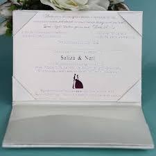 Wedding Invitations Inserts Silk Folio Satin Wedding Invitation Decorated With Pearl Brooch
