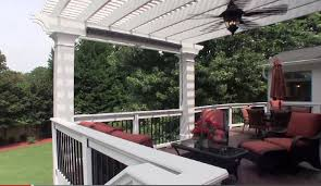 Pergola Ceiling Fan Screened Porch Addition With Windows To Keep Out Pollen