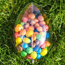large fillable easter eggs easter egg large shaped fillable clear plastic container
