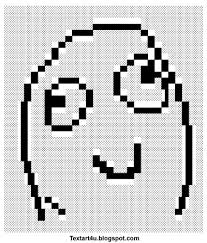 Meme Text Faces - derp smile meme face text art cool ascii text art 4 u