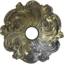 Chandelier Ceiling Canopy Vintage Brass Chandelier Ceiling Canopy With Acanthus Leaf From