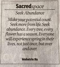 Seeking Ahmedabad Kiran Bedi On Seeking Abundance Today In Ahmedabad
