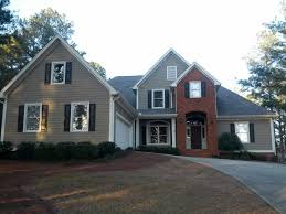Design Home Exteriors Virtual Love This Colour Combo Red Brick Black Shutters Taupe Siding