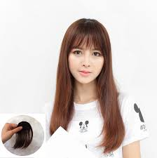 hair extensions for thinning bangs new fashion natural thin light full bang clip in on real remy hair