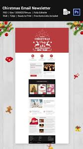 16 christmas newsletter templates psd html format download