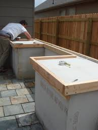 diy concrete patio ideas outside concrete countertop perfect spot for the bbq this would