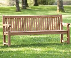 heavy duty garden park teak bench 180cm
