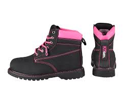 womens work boots s safety work boots black pink work kit
