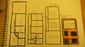 guest house floor plan and a front exterior plan by regular egale