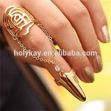 fashion double rings images 2014 new fashion double finger chain ring latest design ladies jpg