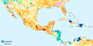 Southern Mexico Map by Mexico Central America U0026 The Caribbean Water Deficits Ahead For