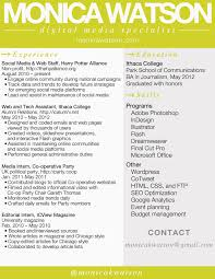 social media resume social media resume sle unique marketing resume business