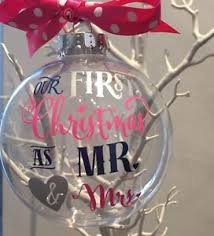 Baby S First Christmas Bauble Ebay by Personalised First Christmas As Mr U0026 Mrs Bauble Decoration Wedding