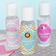 personalized party favors personalized mod kid s birthday sanitizer kid s