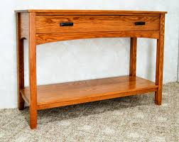 Oak Sofa Table Mission Style Sofa Table De Vries Woodcrafters