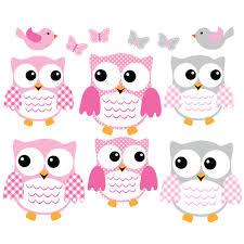 pink and gray owl wall decals with love bird wall decals for kids pink and gray owl wall decal with bird wall art for kids rooms