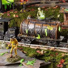 halloween villages snow village halloween toxic waste car department 56 corner