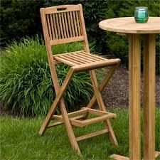 folding teak outdoor bar chair outdoor