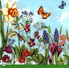 decoupage paper napkins of summer garden tulips u0026 butterflies