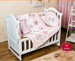 promotion 6pcs embroidery baby bedding set baby quilt