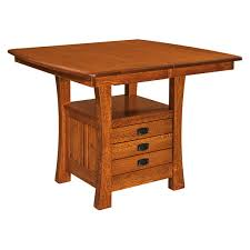Kitchen Table With Storage Cabinets by Amish Dining Tables Amish Furniture Shipshewana Furniture Co