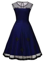 missmay women u0027s 1950s cocktail party mesh lace dress walmart com
